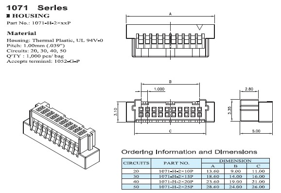 1071 / 1072 Series Connectors